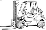 Thumbnail Linde LPG Forklift Truck 352-03 Series: H35, H40, H45 Operating Manual (User Manual)