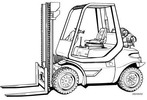 Thumbnail Linde LPG Forklift Truck 352-04 Series: H35, H40, H45 Operating Manual (User manual)