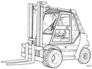Thumbnail Linde Diese Forklift Truck 353 Series: H50, H60, H70, H80 Operating Manual (User Manual)