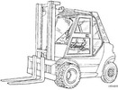 Thumbnail Linde Diesel Forklift Truck 353-02 Series: H50, H60, H70, H80 Operating Manual (User Manual)