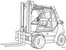 Thumbnail Linde LPG Forklift Truck 353 Series: H50, H60, H70, H80 Operrating Manual (User Manual)