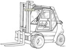 Thumbnail Linde LPG Forklift Truck 353-03 Series: H50, H60, H70, H80 Operating Manual (User Manual)