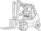 Thumbnail Linde Diesel Forklift Truck 353-03 Series: H50, H60, H70, H80 Operating Manual (User Manual)