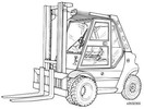Thumbnail Linde Diesel Forklift Truck 353-03 Explosion Protected Series: H50, H60, H70, H80 Operating Manual (User Manual)