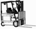 Thumbnail Yale Forklift Truck Type E108: ERC040 RF/ZF, ERC050 RF/ZF, ERC060 RF/ZF, ERC065 RF/ZF Workshop Service Manual