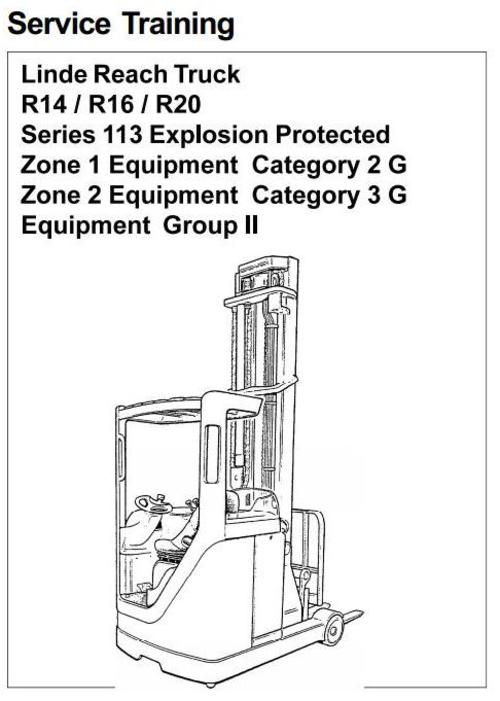 linde electric reach truck type 113 explosion protected r14 ex r1 rh tradebit com  linde r14 manual pdf
