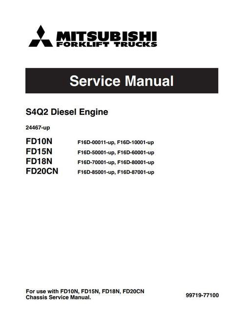 mitsubishi s4q2 diesel engine service manual download manuals am rh tradebit com mitsubishi 4m50 engine service manual mitsubishi l3e engine service manual