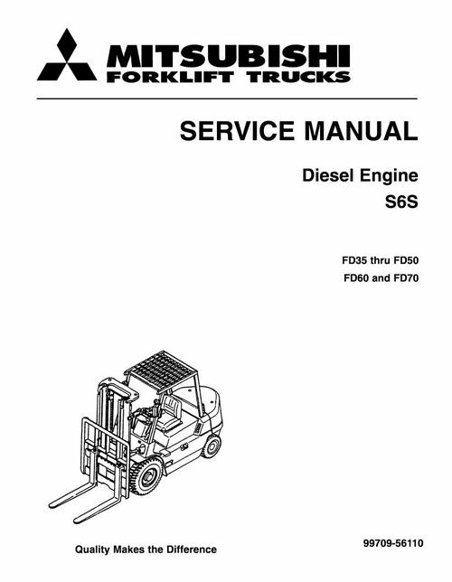 pay for mitsubishi s6s, s6s-t diesel engine service repair manual