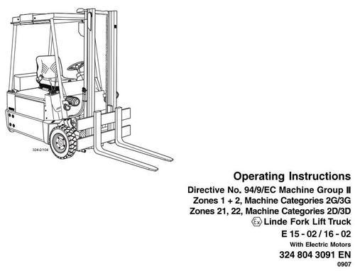 linde fork lift truck 324 02 series e15 02 e16 02 exatex operati rh tradebit com