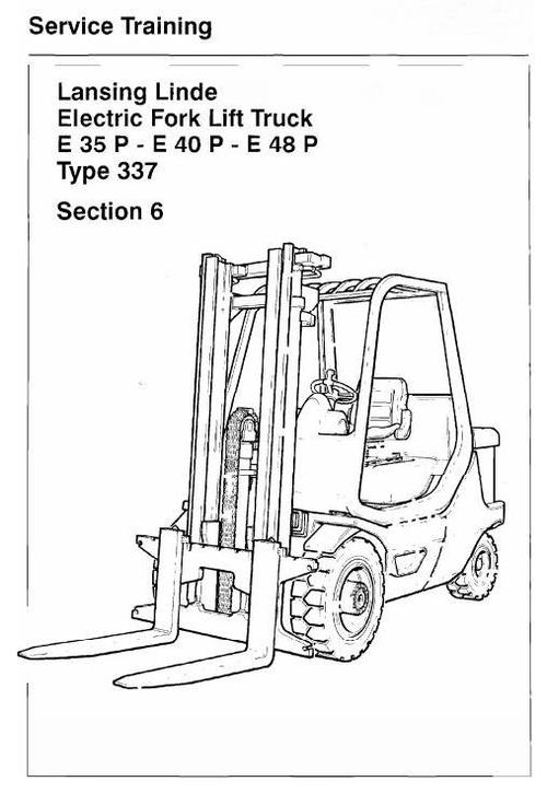 linde electric forklift truck type 337 e35p e40p e48p service tr rh tradebit com Manual D Spreadsheet Manual D Equivalent Length