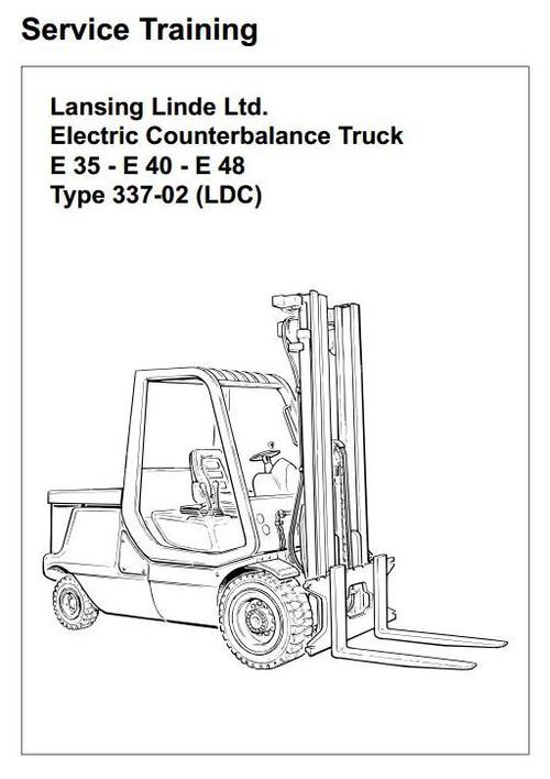 Linde Electric Forklift Truck Type 337