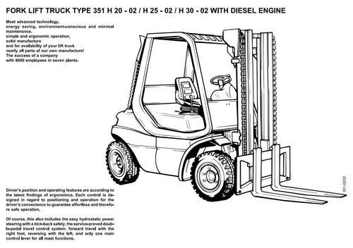 linde diesel forklift truck 351 02 series h20 h25 h30 operating rh tradebit com Repair Manuals linde h 25 service manual
