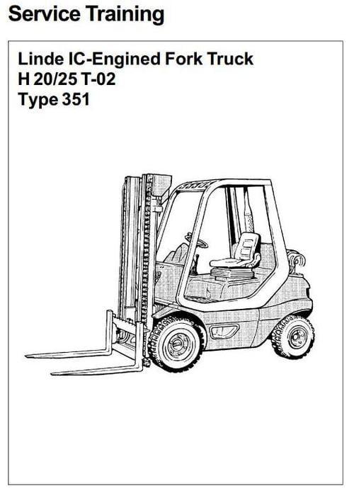 linde ic engined forklift truck 351 02 series h20 h25 service tra rh tradebit com Service Station linde h 25 service manual