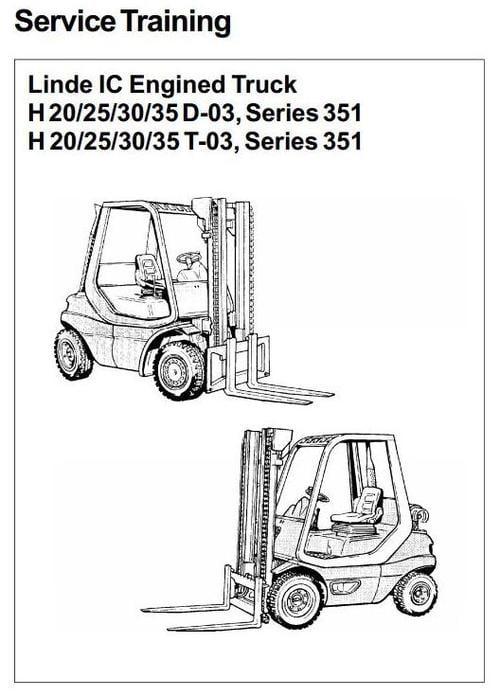 linde ic engined forklift truck h351 03 series h20 h25 h30 h35 rh tradebit com Service ManualsOnline Customer Service Books