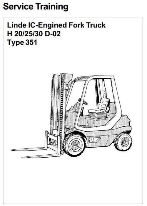 linde diesel forklift truck 351 02 series h20 h25 h30 service tr rh tradebit com linde h 25 service manual linde h 25 service manual