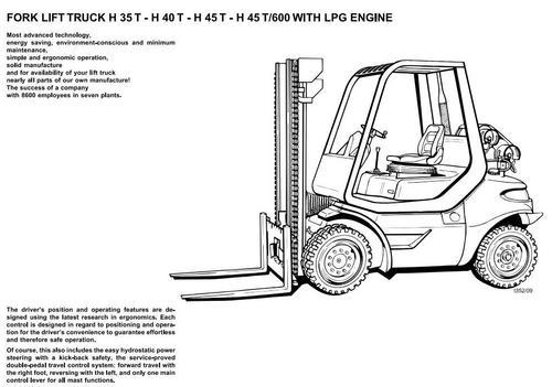 linde lpg forklift truck 352 series h35 h40 h45 operating manual rh tradebit com forklift operator manual osha forklift operational manual
