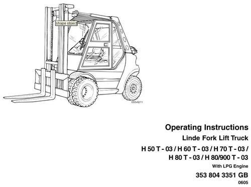 Free Linde Forklift Truck 352 Series  H35  H40  H45