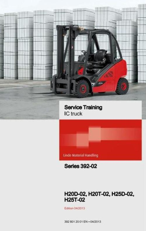 Pay for Linde Forklift Truck 392-02 Series: H25, H30 Service Trainining Manual