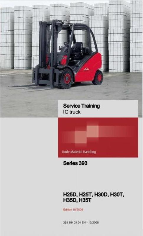 Linde Forklift Truck 393 Series  H25  H30  H35 Service