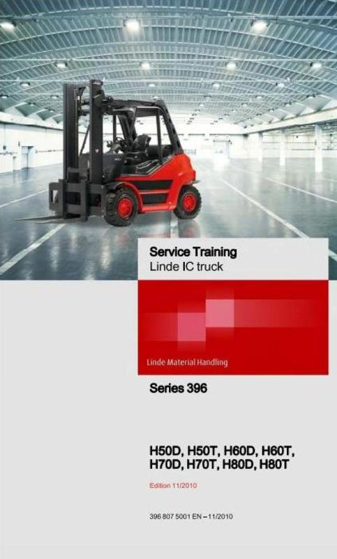 Free Linde LPG and Diesel Forklift Truck H-Series Type 396: H50, H60, H70, H80 Service Training (Workshop) Manual Download thumbnail