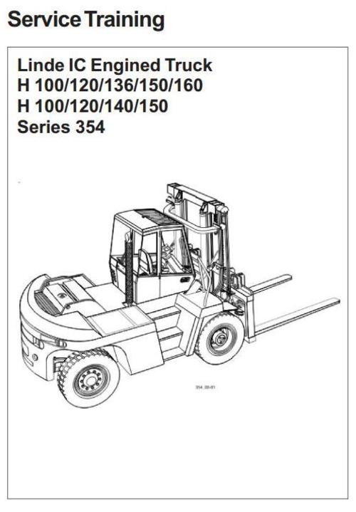 linde forklift truck h354 series  h100  h120  h136  h140  h150  h16