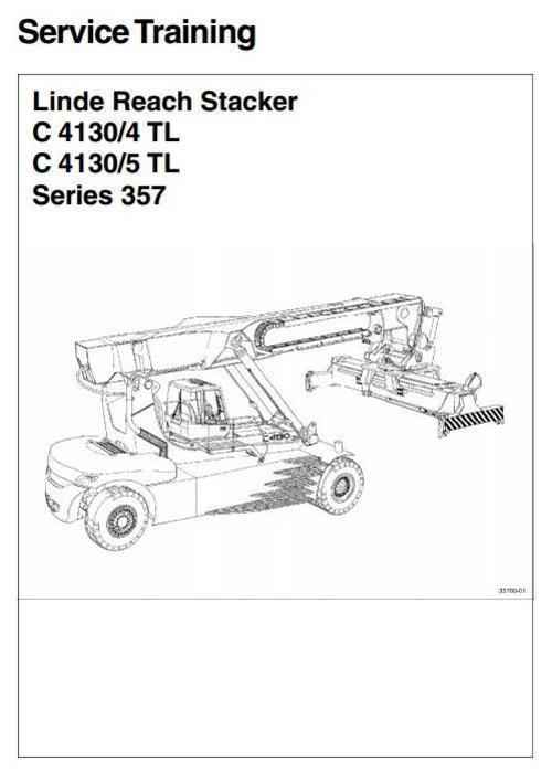 Linde Reachstacker Type 357  C4130  4 Tl  C4130  5 Tl