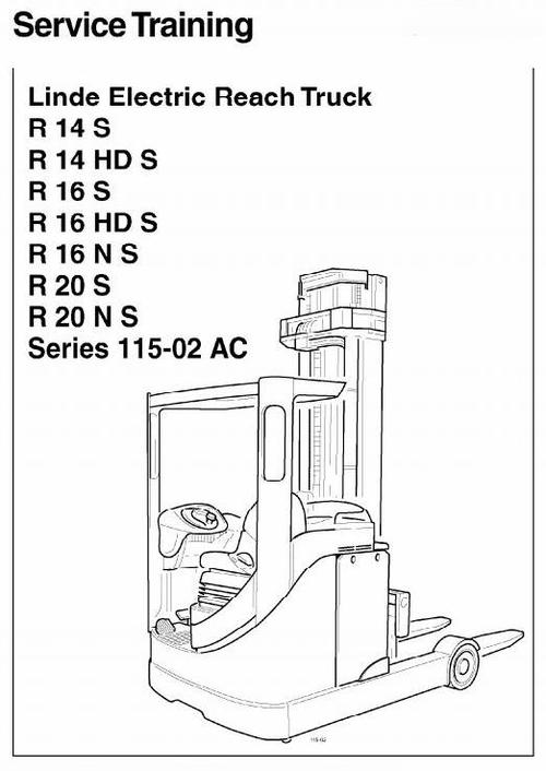 linde electric reach truck type 115