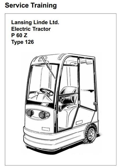 linde electric tractor type 126  p60z service training  workshop  manual