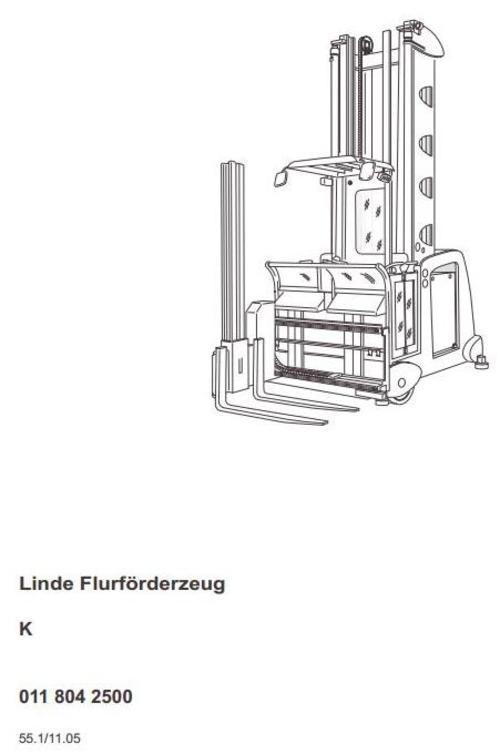 linde truck type 011 k from operating. Black Bedroom Furniture Sets. Home Design Ideas