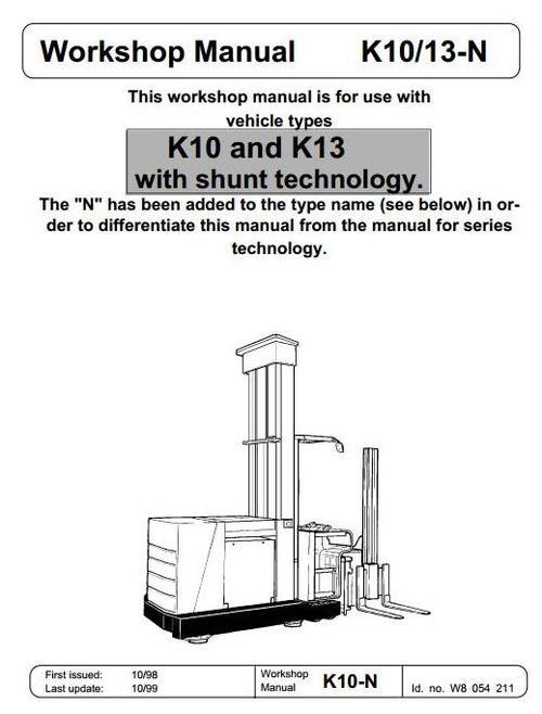 Pay for Linde Truck Type 008: K10, K13 Service Training (Workshop) Manual