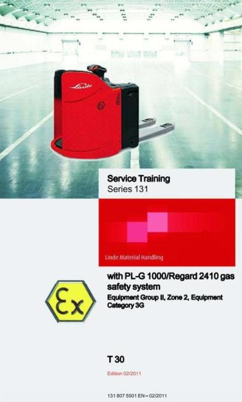 Free Linde Pallet Truck Type 131 Ex: T30 with PL-G1000 Service Training (Workshop) Manual Download thumbnail