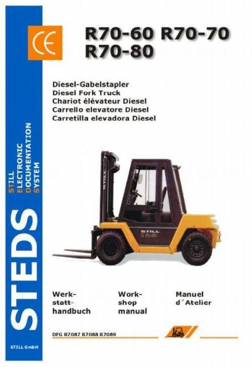 Pay for Still Diesel Fork Truck R70-60 R70-70, R70-80 Series: DFG R7087, R7088, R7089 Workshop Manual