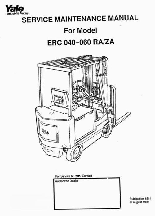 yale erc040 wiring diagrams yale hoist wiring diagrams yale sit down rider ra, za series: erc040, erc050, erc060 ... #2