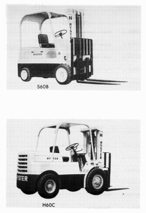 Hyster Forklift Truck Type C005 H100C H120C H60C H70C H80C S100B S60B S70B S80B Workshop Manual