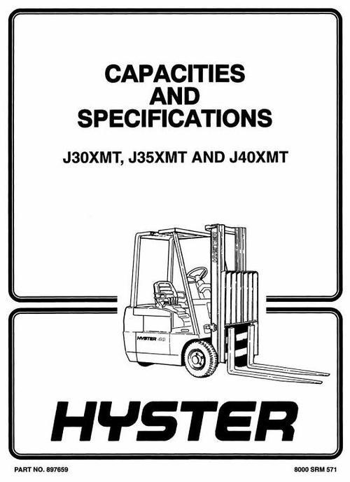 hyster forklift truck type f160  j30xmt  j35xmt  j40xmt