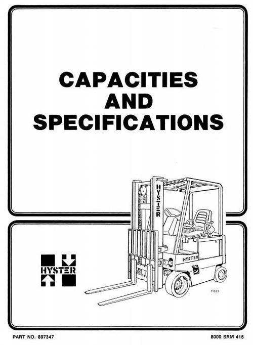 hyster manual  u2013 best repair manual download