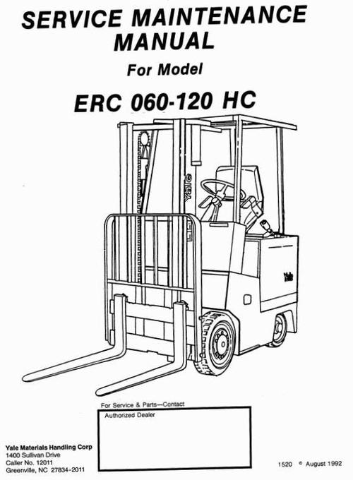 yale electric forklift truck  erc060hc  erc070hc  erc080hc