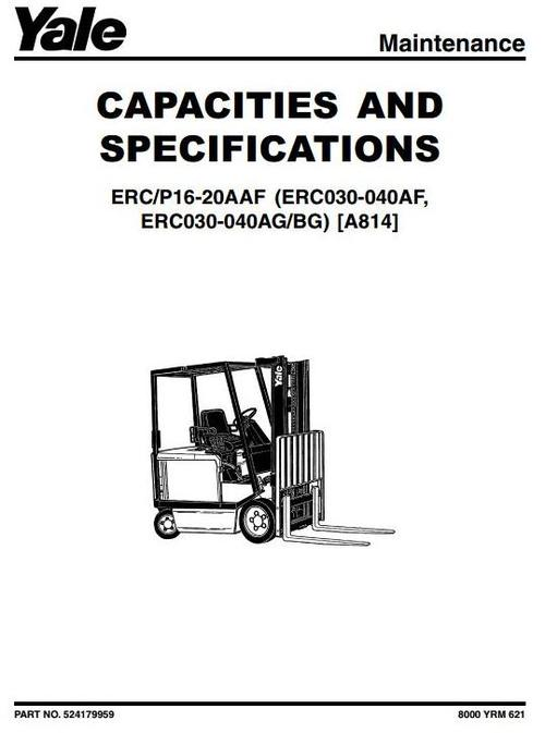 yale electric forklift truck type a814 erc030, erc040 (af, ag, bg) robbins & myers wiring diagram pay for yale electric forklift truck type a814 erc030, erc040 (af, ag