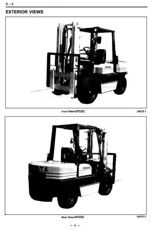 Toyota Diesel Forklift Truck  5fd33  5fd35  5fd40  5fd45