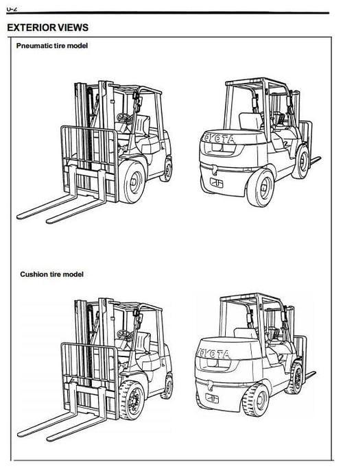 toyota lpg forklift truck 7fgu15  7fgu18  7fgu20  7fgu25