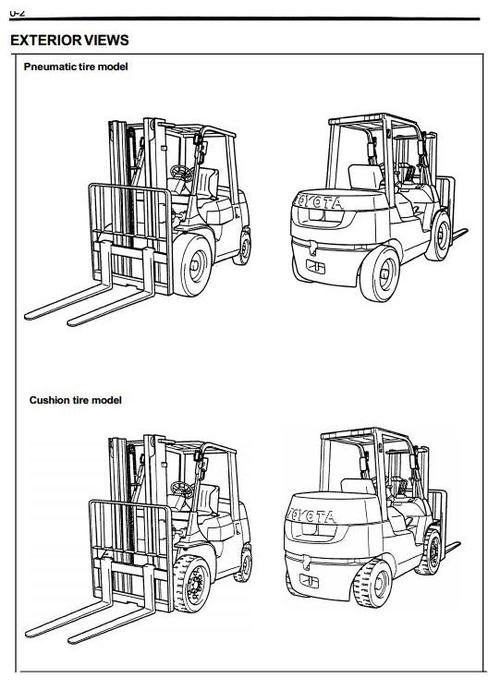 Pay for Toyota Diesel Forklift Truck Type 7FDU: 7FDU15, 7FDU18, 7FDU20, 7FDU25, 7FDU30, 7FDU32 Workshop Service Manual
