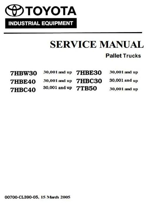 Free Toyota 7hbw23  7hbw30  7hbe30  7hbc30  7hbe40  7hbc40