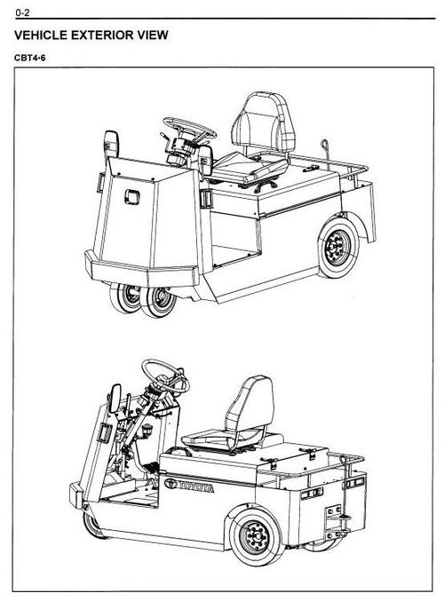 toyota floor runner cbt4  cbt6  cbty4 workshop service manual