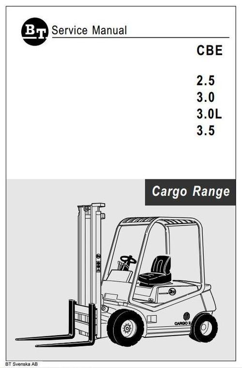 Free BT Cargo Range Electric Forklift Truck  CBE 2.5, CBE 3.0, CBE 3.0L, CBE 3.5 Workshop Service Manual Download thumbnail