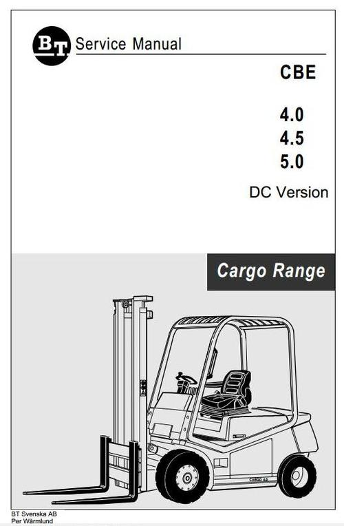 Free BT Cargo Range Electric Forklift Truck  CBE 4.0 DC, CBE 4.5 DC, CBE 5.0 DC Workshop Service Manual Download thumbnail