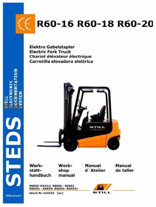 Free Still Electric Fork Truck Type R60-16, R60-18, R60-20: R6030-R6032, R6033I-R6035I, R6050-R6052, R6053I-R6055I Service Manual Download thumbnail