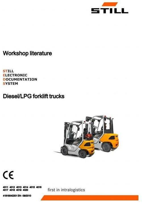 Free Still Diesel and LPG Forklift Truck Type RC40-15, RC40-18, RC40-20, RC40-25, RC40-30 (4011-4020) Workshop Service Manual Download thumbnail