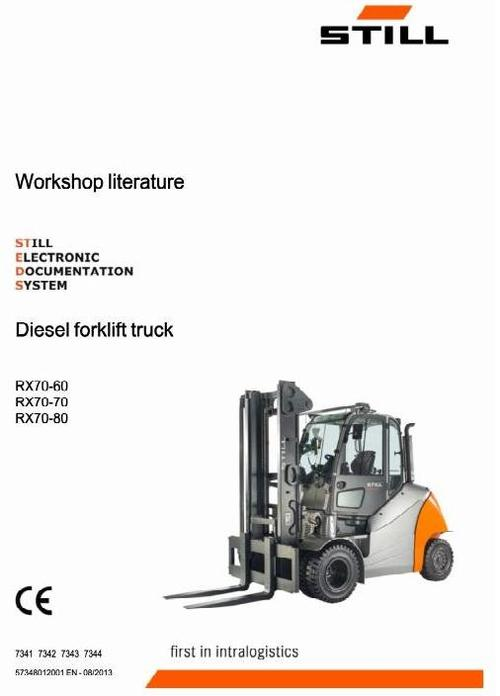 Pay for Still Diesel Forklift Truck Type RX70-60, RX70-70, RX70-80: 7341, 7342, 7343, 7344 Workshop Service Manual