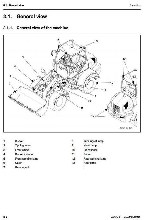 Pay for Komatsu Wheel Loader WA90-5 sn: H50051 and up Workshop Service Manual
