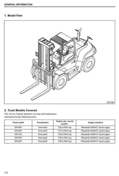 CAT Diesel Forklift Truck DP100N DP120N DP135N DP150N DP160N Workshop Service Manual